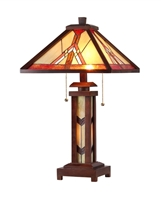 Picture of CH33429WM15-DT3 Double Lit Table Lamp