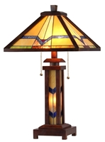 Picture of CH33430WM15-DT3 Double Lit Table Lamp