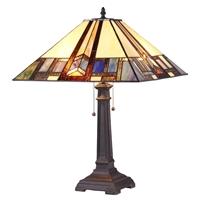 CHLOE Lighting GAHERIS Tiffany-style 2 Light Mission Table Lamp