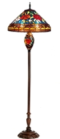 Picture of CH11309FR18-DF3 Roses Floor Lamp