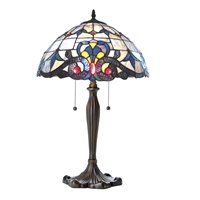 CH11674BV16-TL2 Tiffany Style Victorian Table Lamp