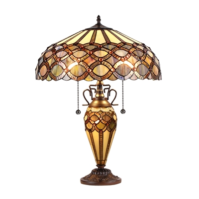 Picture of CH38435GG18-DT3 Double Lit Table Lamp