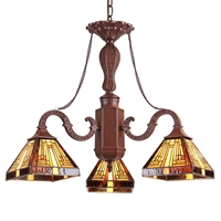 "CHLOE Lighting INNES Tiffany-style Mission 3 Light Mini Chandelier 23"" Wide"