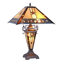 Picture of CH38847PM16-DT3 Double Lit Table Lamp